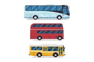 bus city transportation. Modern flat design