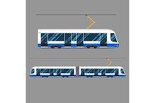 set vector mass rapid transit urban vehicles Collection  municipal transport