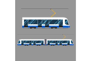 set vector mass rapid transit urban vehicles Collection  municipal transport