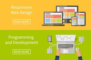 Web design and programming, flat