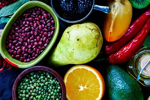 Colorful cooking ingredients