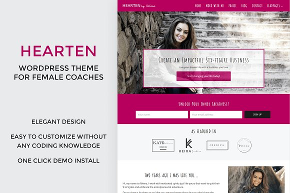 Hearten - Coach WordPress Theme