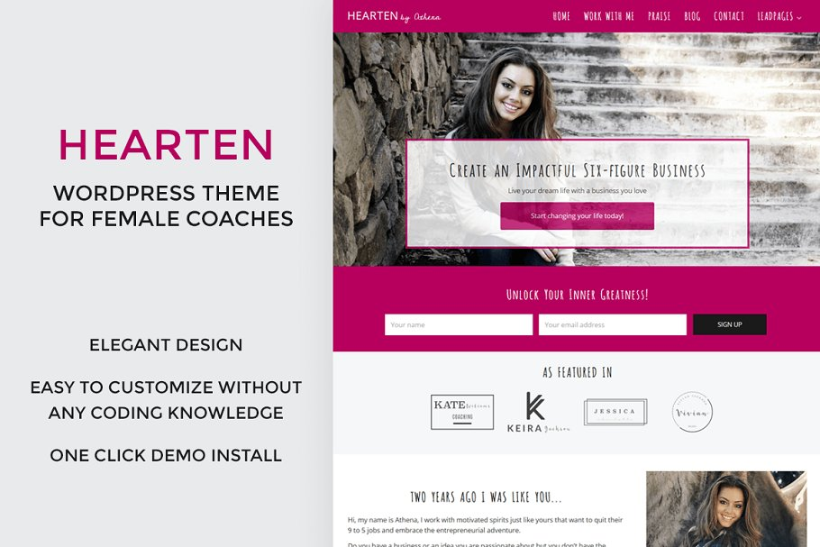 Hearten - Coach WordPress Theme