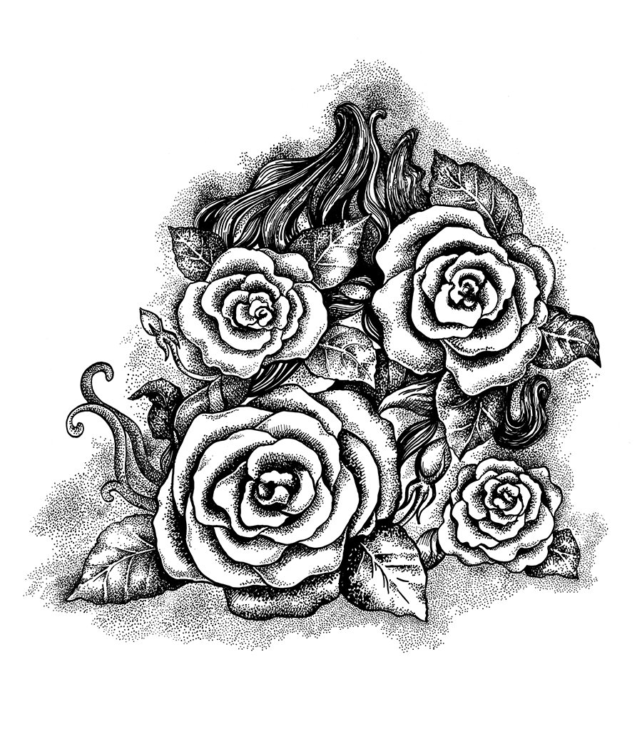 black and white roses graphics creative market