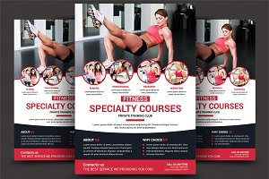 Health, Sports, Fitness Flyer