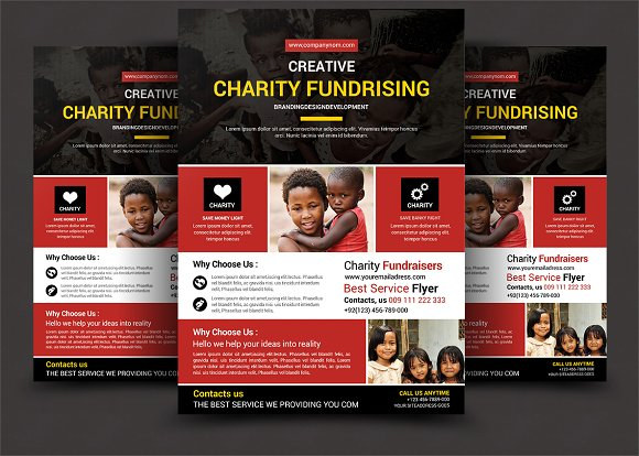 charity fundraisers flyer templates flyer templates creative market