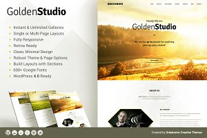 Golden Studio - WordPress Theme