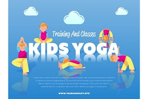 Training and classes kids yoga banner