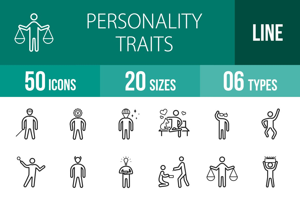 700 Personality Traits Icons Icons Creative Market