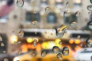 Rain in New York City street