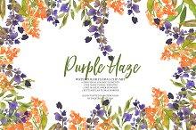 Purple Haze-watercolor clipart