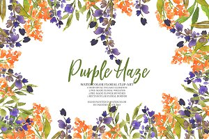 Purple Haze-watercolor clipart