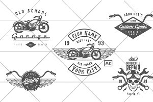 Vintage biker logos (Set #2)