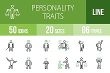 50 Personality Green & Black Icons