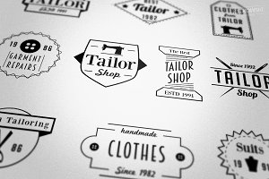 Tailor Store Badges Logos