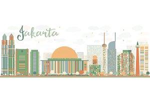 Abstract Jakarta skyline