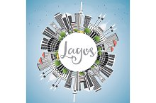 Lagos Skyline with Gray Buildings