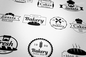 Bakery Shop Badges Logos