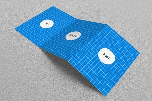 Trifold Mockups A4 x 3