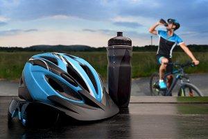 cyclist going mountain bike