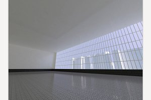 open space 3D rendering