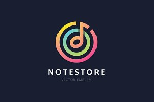Note Store Logo Template