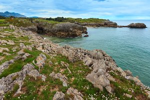 Bay of Biscay rocky coast, Spain.
