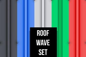 Metal roof seamless pattern set