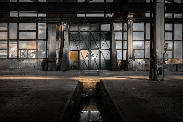Industrial Stock Photos - Industrial interior of an old factory
