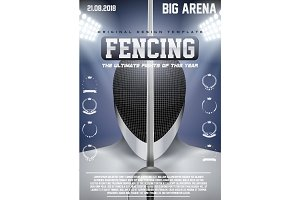 Poster Template of Fencing