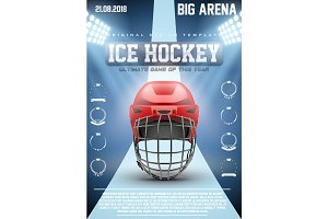 Poster Template of Ice Hockey Games