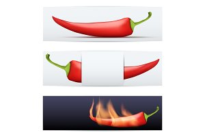 Hot Pepper pattern food banners