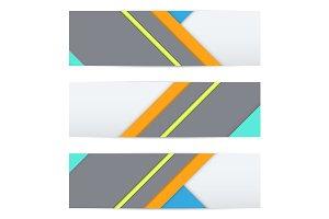 Banner of modern material design.