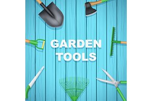 Background of Season Garden tools