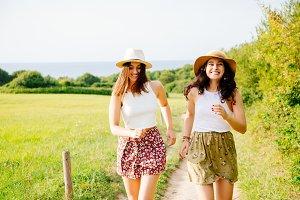 Friends enjoying summer