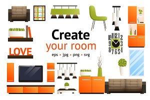 Create Your Room set