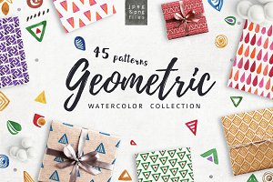 Geometric patterns | Watercolor pack