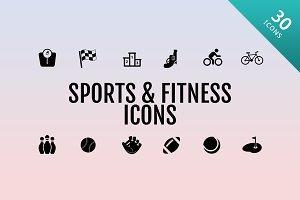 30 Sports and Fitness Icons