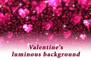 Valentine's pink luminous background