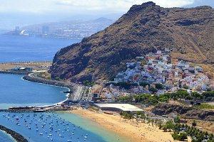 Las Teresitas beach,Tenerife.