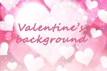 Valentine pink background with heart