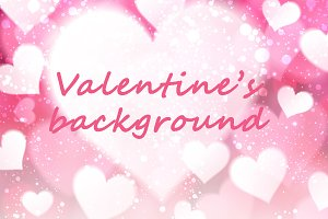 Valentine pink background with heart