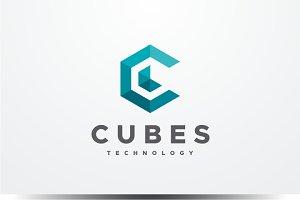 Cubes - Letter C Logo