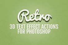 3D Retro Text Effects - Photoshop
