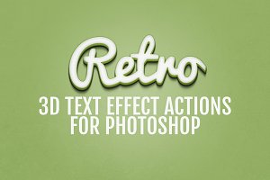 3D Retro Text Effects - Photoshop