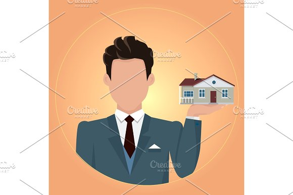 Real Estate Concept Illustration In Flat Design
