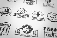 Fishing Badge Logos
