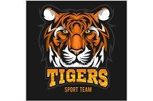 vector tiger face sport emblem