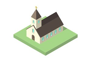 Beautiful small isometric church