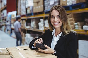 Warehouse manager using scanner
